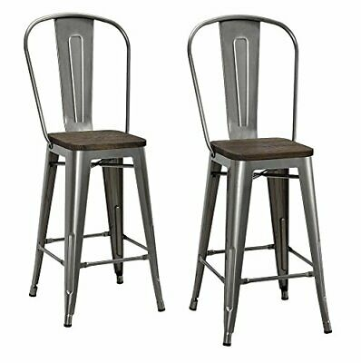 Remarkable Dhp Luxor 24 Metal Counter Stool With Wood Seat Set Of 2 Forskolin Free Trial Chair Design Images Forskolin Free Trialorg