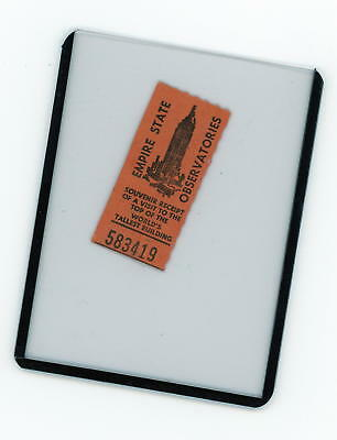 EMPIRE STATE BUILDING OBSERVATORIES VINTAGE RECEIPT FROM 1960s