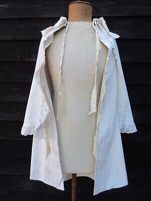 Victorian childs or petite adults white cotton tiered cape broderie anglais