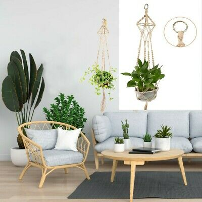 Garden Plant Hanger Macrame Hanging Planter Basket Rope Flower Pot Holder Decor