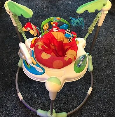 Fisher Price Rainforest Jumperoo / Baby Bouncer Play Gym Toy,motor Skills