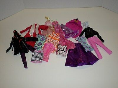 Barbie Doll Clothes Lot Of 17 Items Dresses Skirts  Super Cute