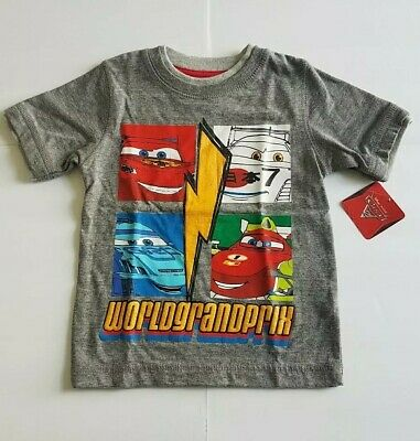 Disney Pixar Cars Baby Boy T-Shirt Size NWT 18 Months Gray Red Yellow