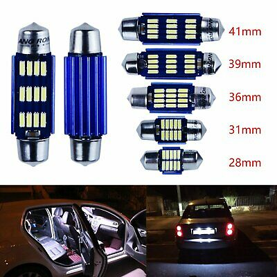 2x C5W 28-41mm 4014 SMD LED Bulb Festoon Number Plate Interior Light Lamp Canbus