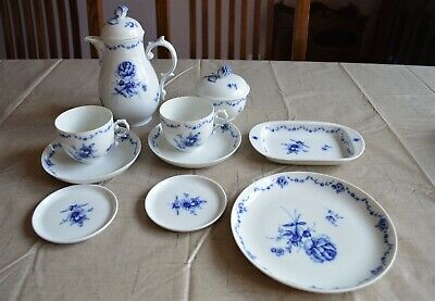 Furstenberg China Lottine Tea for Two Teapot Cups sugar butter tray
