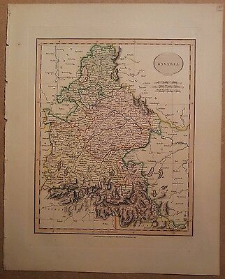 JOHN CARY MAP OF BAVARIA 1813 FROM HIS New Elementary Atlas