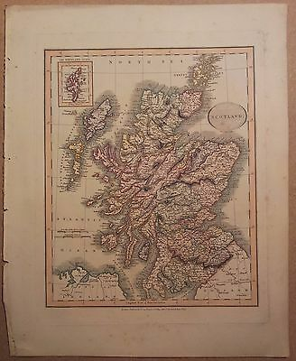 JOHN CARY MAP OF SCOTLAND 1813 FROM HIS New Elementary Atlas
