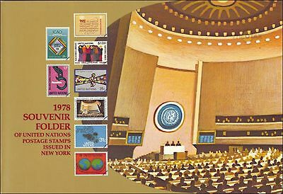 United Nations 1978 Annual Year Folders NY and Geneva Complete With Stamps MNH
