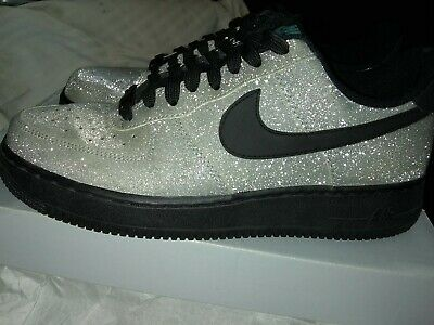 2b3e727c0fbb NIKE AIR FORCE 1 LOW SPARKLY SILVER LV8 DIAMOND QUEST 718152-005 SHOES size  8