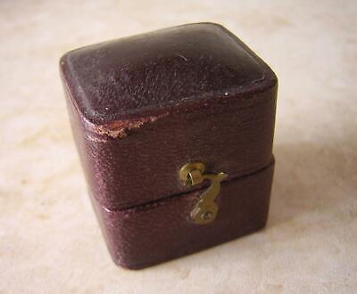 Antique Georgian Ring Box In Moroccan Leather 1820 1930 Early Victorian