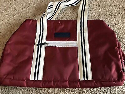 a5bf1d7cdbb NEW SKECHERS GYM BAG Red/Navy/White DUFFEL WORKOUT TOTE Travel Weekender DSW