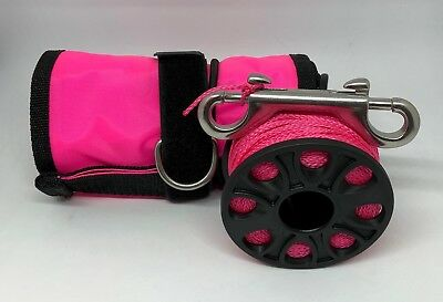 Scuba Diving Pink SMB/DSMB 117x13cm with 30m Pink Finger Reel