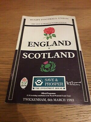 1993-England V Scotland-Five Nations-Calcutta Cup-Rugby Union Programme