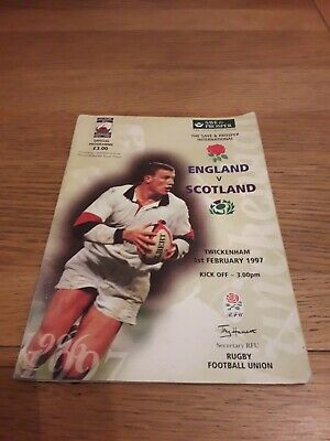 1997-England V Scotland-Five Nations-Calcutta Cup-Rugby Union Programme