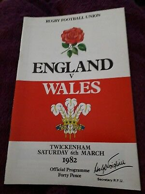 1982-England V Wales-Five Nations-International Rugby Union Programme-Good