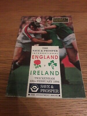 1994-England V Ireland-Five Nations-International Rugby Union Programme