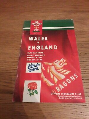 1993-Wales V England-Five Nations-International-Rugby Union Programme-Good
