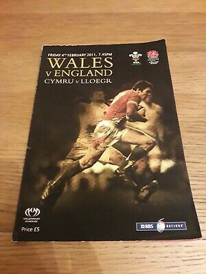 2011-Wales V England-Six-6 Nations Champions-International-Rugby Union Programme