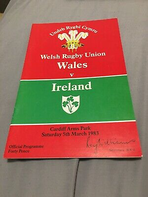 1983-Wales V Ireland-Five Nations Champions-International Rugby Union Programme