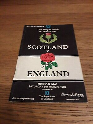 1988-Scotland V England-Five Nations-International Rugby Union Programme
