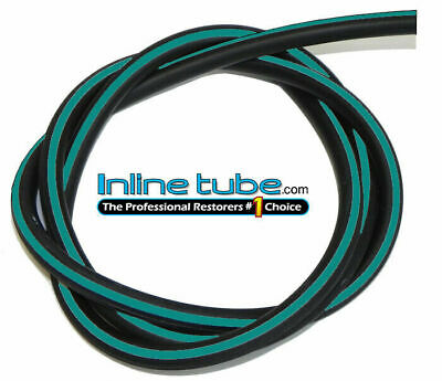 1964-81 GM Vacuum Engine Hose Ribbed LT BLUE Stripe 5/32 3 ribs SOLD 4 FOOT