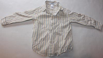 Baby Boy Toddler 2T JANIE AND JACK White Striped Button Up Shirt Long Sleeve