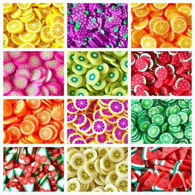 10g Kawaii FAKE Faux Mini Fruits Fimo Clay Slices Decoden Sprinkles Slime CRAFTS