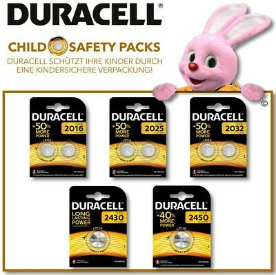 Duracell Specialty Lithium-Knopfzellen CR2016 - CR2450 CHILD SAFETY PACKS