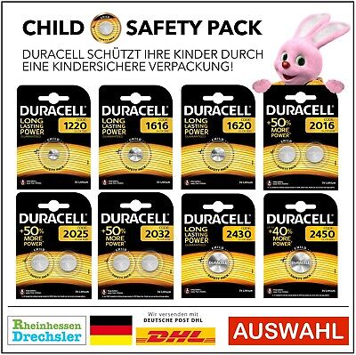 Duracell Specialty Lithium-Knopfzellen CR1220 - CR2450 CHILD SAFETY PACKS