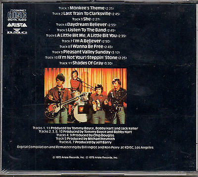 """The Monkees """"Greatest Hits"""" Ultra Rare Spanish Cd / Salvat Edition / New Sealed"""