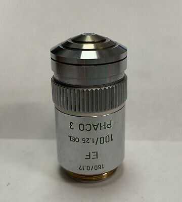 Leitz 100X EF Phaco 3 Phase Contrast Microscope Objective 160mm Part # 519770