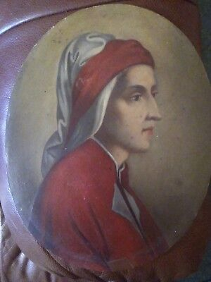 Unframed Late 19th early 20th Century Oil On Oval Board of a Portrait of a Lady