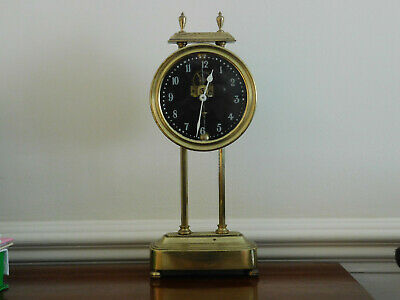 Antique Solid Brass Gravity Mystery Carriage Clock For Restoration