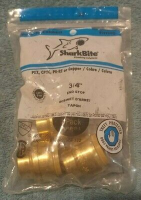 SharkBite U518LFA4 3/4 in. Brass Push-to-Connect End Stop Qty 8