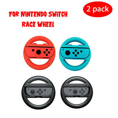 2 Pack Racing Steering Wheel For Nintendo Switch Joy-Con Controller Handle Grips
