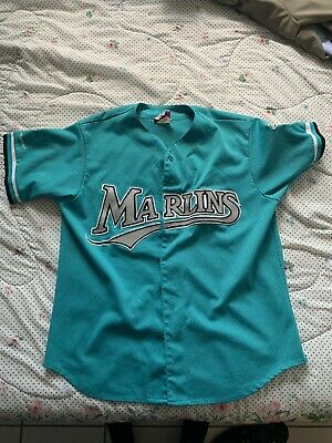 807c0fa561e Vintage 90s AUTHENTIC MAJESTIC FLORIDA MARLINS BASEBALL JERSEY - MENS XL