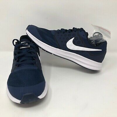 0f4ac959b3 NWOB Nike Downshifter 7 (GS) Midnight Navy White Childrens Shoes Size 5.5 Y