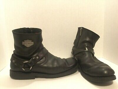d53a8d945e4 HARLEY-DAVIDSON SCOUT MENS 12 black leather boots riding 7 inch side zipper