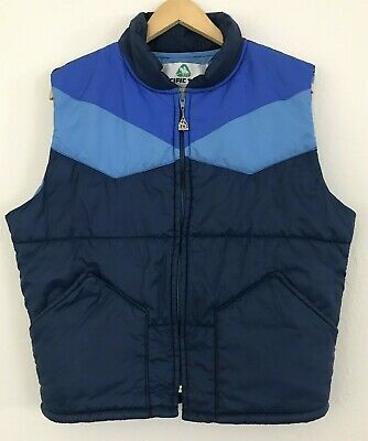 Vintage Pacific Trail Puffer Vest M L 70's 80's Outdoor Camping Sportswear