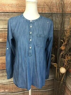 Ann Taylor LOFT Chambray Tie Off The Shoulder Top Various Sizes NWT