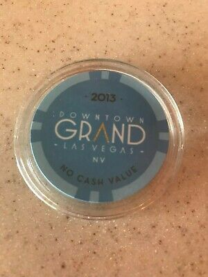 New 2013 Uncirculated Limited Edition Downtown Grand Las Vegas Blue Casino Chip