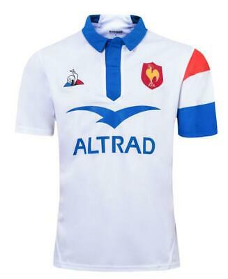 New 2019 White French Rugby Jersey Football shirt Tee Size:S-XXXL