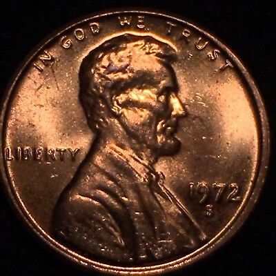 1972-S Lincoln Cent Ddo Double Die Obverse Gorgeous Red Ms Brilliant Rare Gem ++