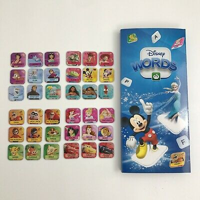 Woolworths Disney Words Tiles Complete Full Set with Display Case