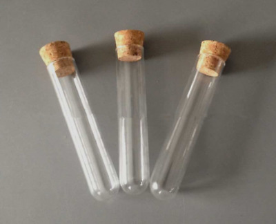 Glass Test Tubes (3 pieces) with Wooden Corks