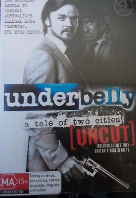 UNDERBELLY: A TALE of Two Cities NEW PAL Cult 4-DVD Set R