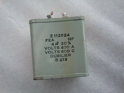 Vintage Very Rare Capacitor Dubilier 4uF 600VDCW B213 20% Z112824