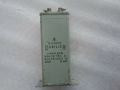 Vintage Very Rare Capacitor Dubilier 1uF 1200VDCW B23 20% Z112908