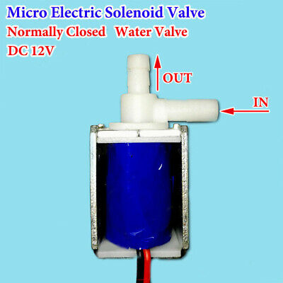 1* DC 12V Mini Electric Solenoid Valve N/C Normally Closed Mini Water Air Valve