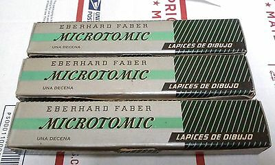 25 Vintage Eberhard Faber Microtomic Drawing,Writing,Sketching Pencils  2H,H,2B